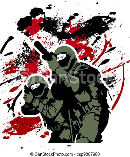 Soldados de élite - csp9867980