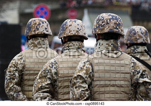 soldados, desfile, militar - csp0895143