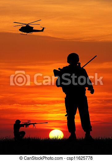Soldados en guerra - csp11625778