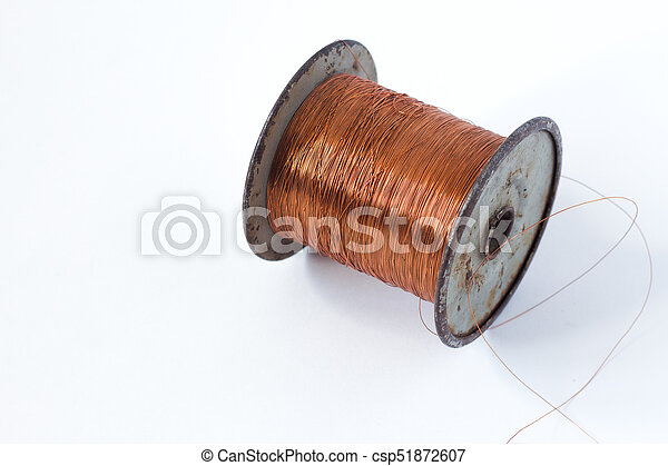 Soldering wire reel on white background . Soldering wire... stock ...
