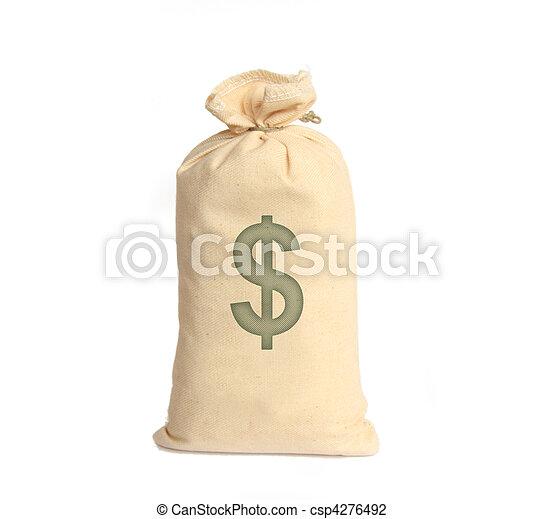 soldi, bianco, borse - csp4276492