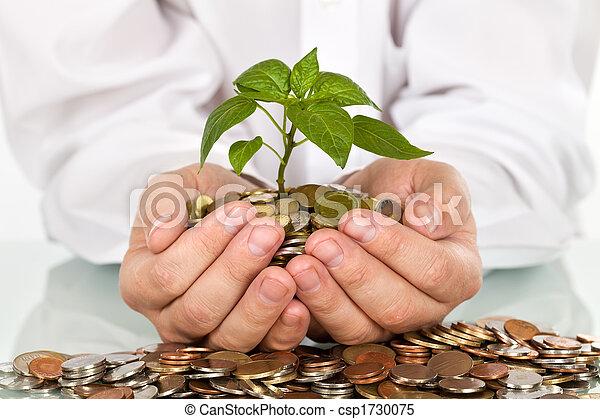 soldi, buono, concetto, investimenti, fabbricazione - csp1730075