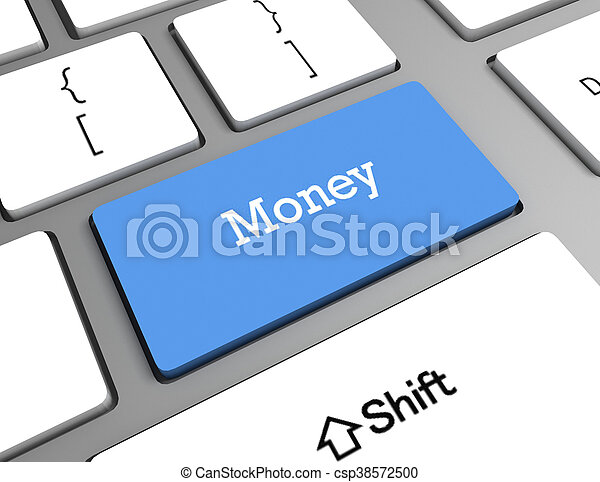 soldi, computer, parola, tastiera - csp38572500