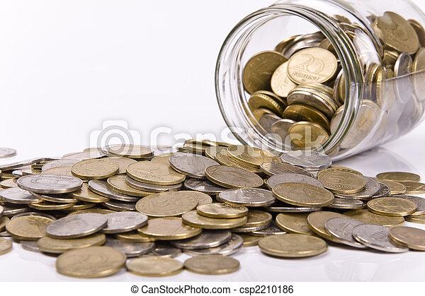 soldi, concetto, risparmio - csp2210186
