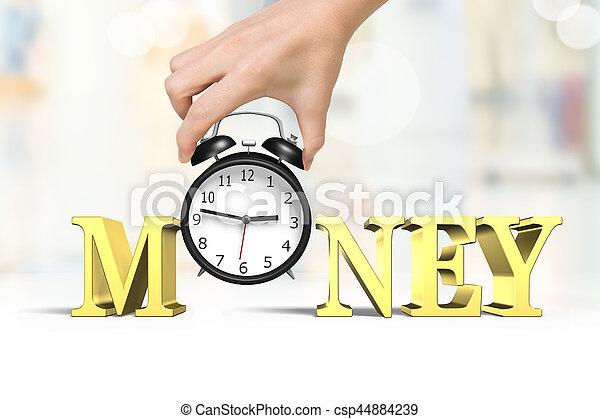 soldi, concetto, tempo - csp44884239