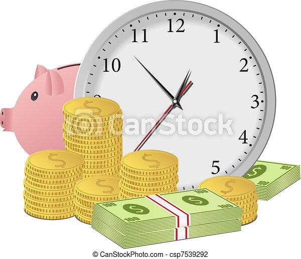 soldi, concetto, tempo - csp7539292