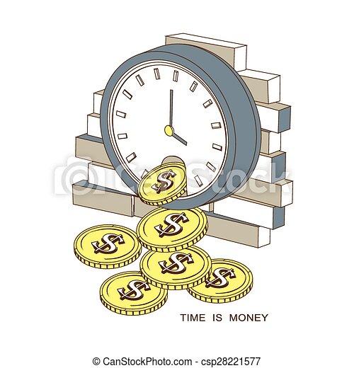 soldi, concetto, tempo - csp28221577
