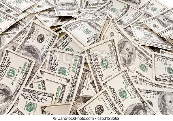 soldi, mucchio, grande - csp3123562