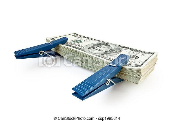 soldi, mucchio, isolato, grande - csp1995814