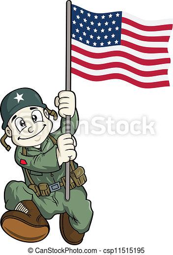 soldier cartoon - csp11515195