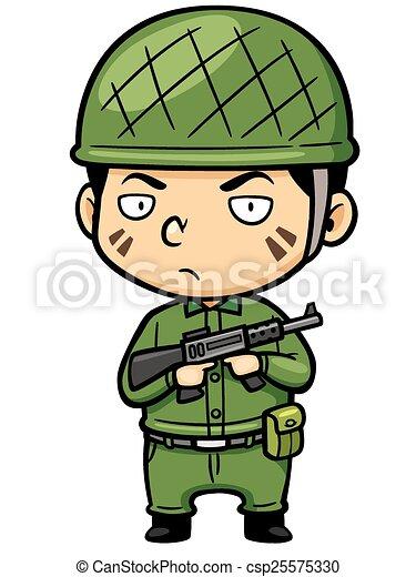 vector illustration of cartoon soldier rh canstockphoto com soldier vector art soldier vector png