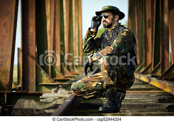 soldier in military uniform - csp52944204