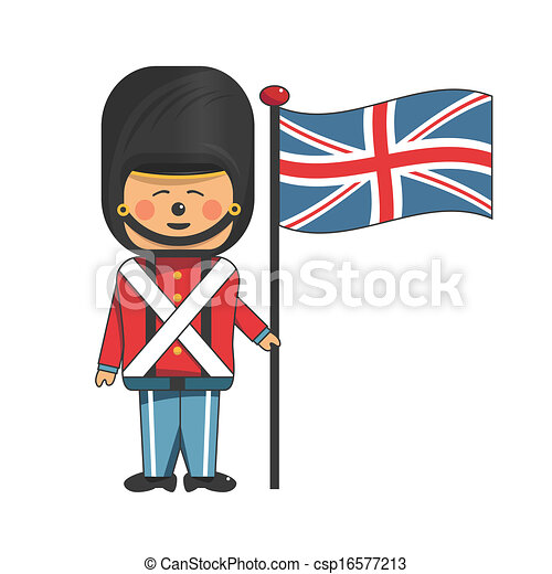 Vector Clip Art of Soldier in uniform - Happy soldier in red ...