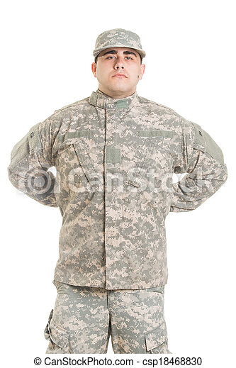 Soldier isolated on white - csp18468830