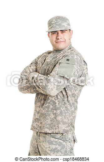 Soldier isolated on white - csp18468834