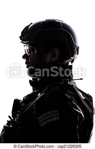 soldier on white background - csp21226305