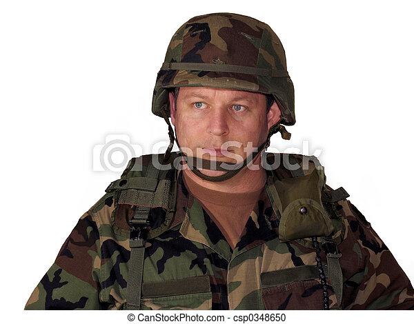Soldier on white - csp0348650