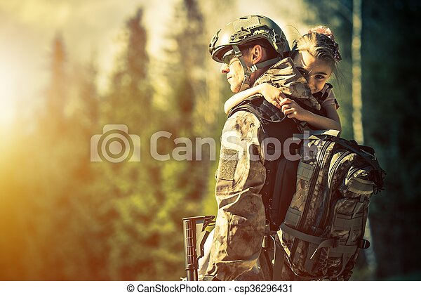 Soldier Returning Home - csp36296431