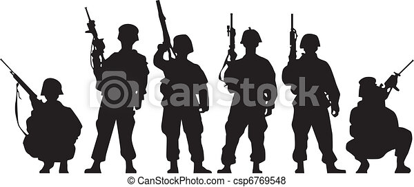 Soldier Silhouette - csp6769548