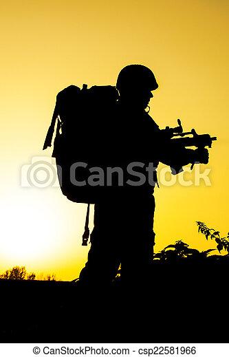 Soldier silhouette - csp22581966