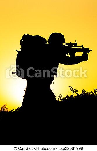 Soldier silhouette - csp22581999