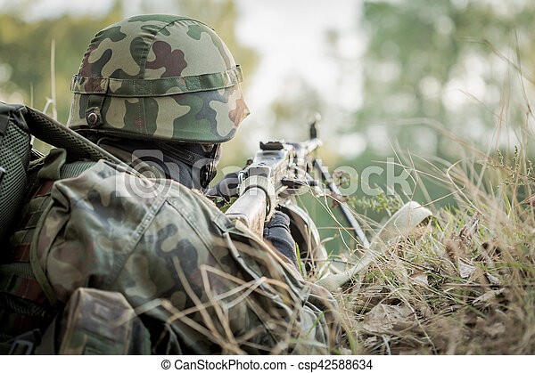 2c6a6b1a0d84e Soldier taking part in military maneuver. Army soldier taking part ...