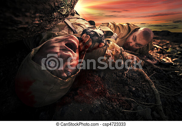 Soldier's dead body - csp4723333