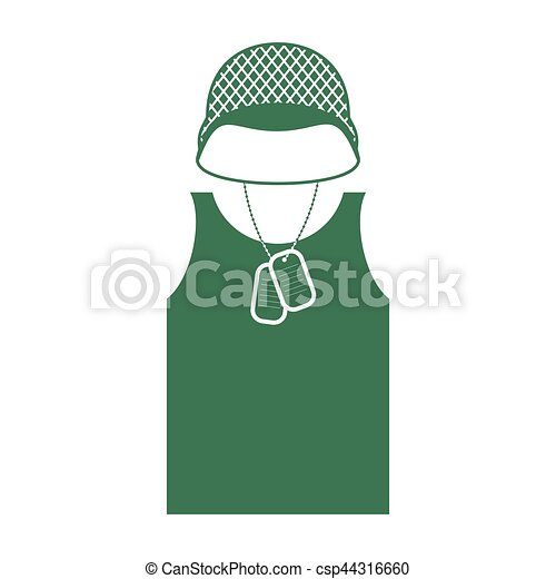 Soldiers helmet and shirt. Military clothing. Army uniform - csp44316660