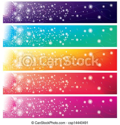 sole, bandiere, 5, colorito, lucente - csp14440491