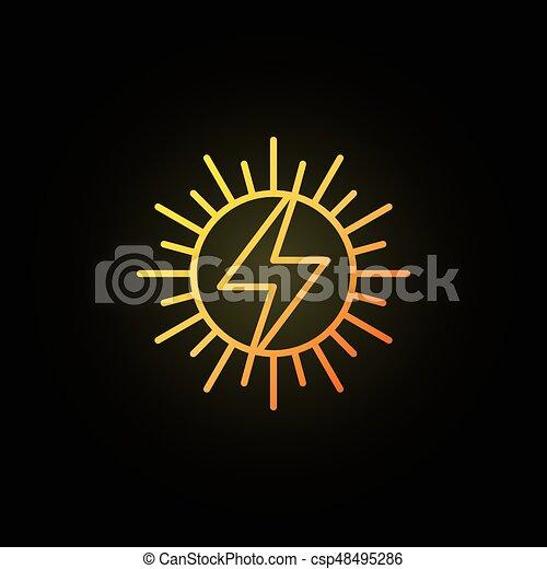 sole, concetto, colorito, icona - csp48495286