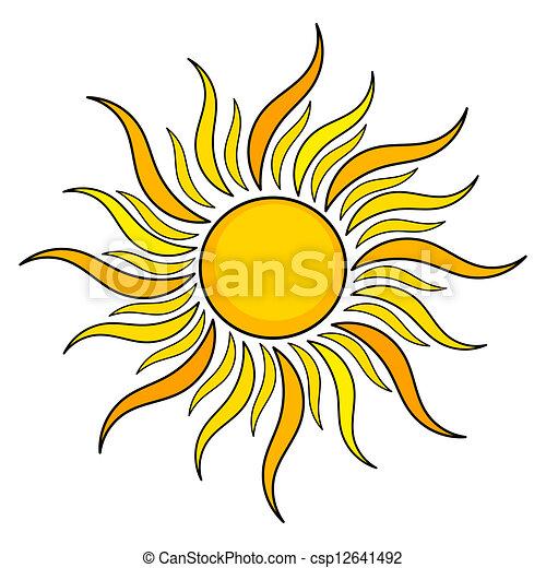 sole, icona - csp12641492
