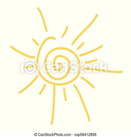 sole, icona - csp56412858