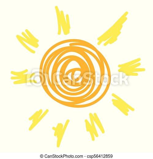 sole, icona - csp56412859
