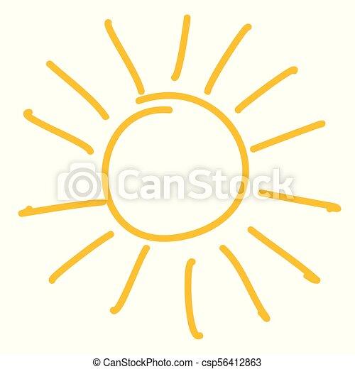 sole, icona - csp56412863