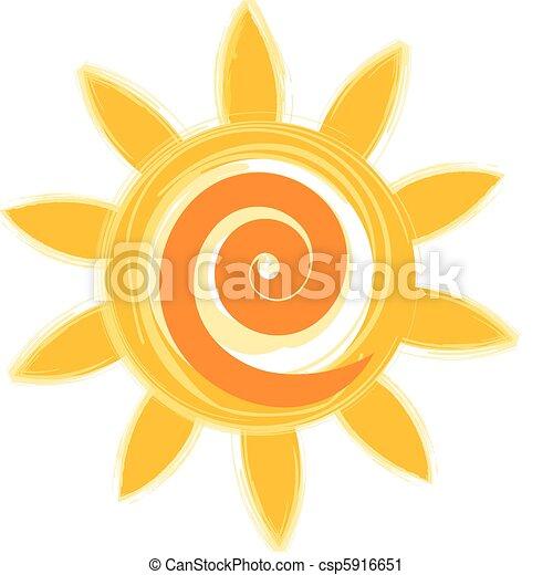 sole, icona - csp5916651