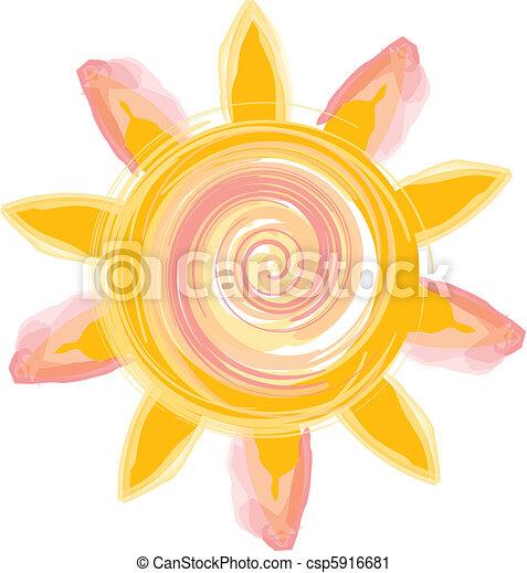 sole, icona - csp5916681