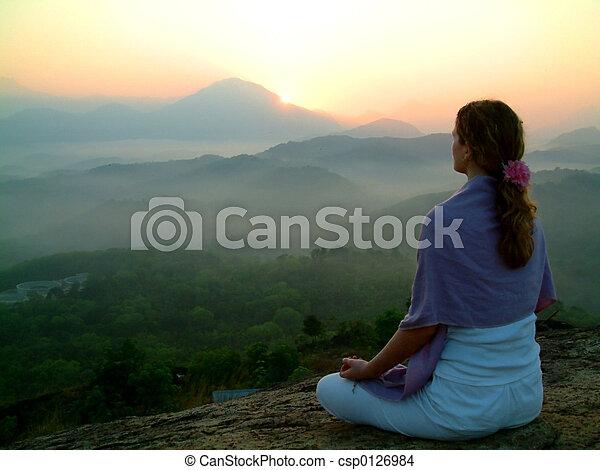 sole, meditatio, salita - csp0126984