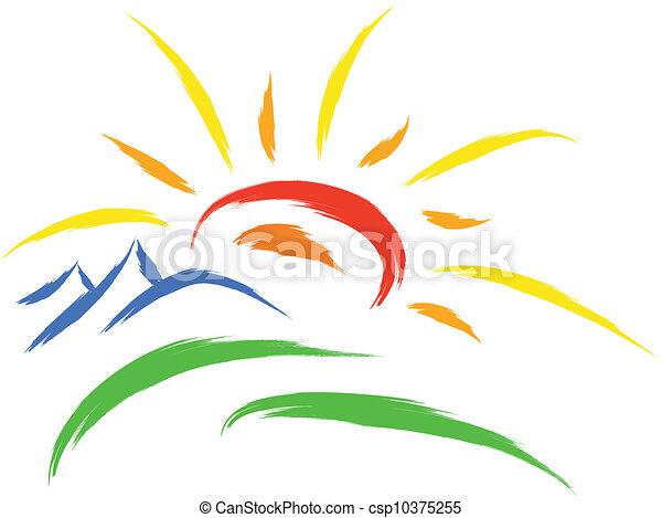 sole, simbolo, natura - csp10375255