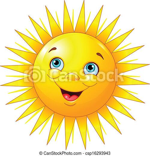 sole, sorridente - csp16293943