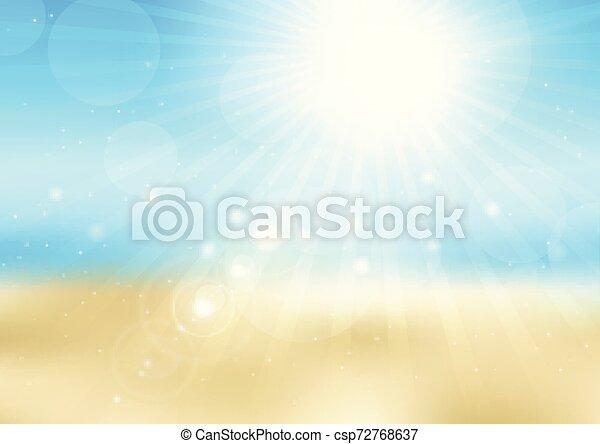 Defocada escena de la soleada playa 2707 - csp72768637