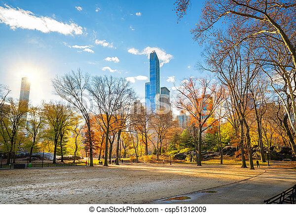 soleado, parque, otoño, central, día - csp51312009