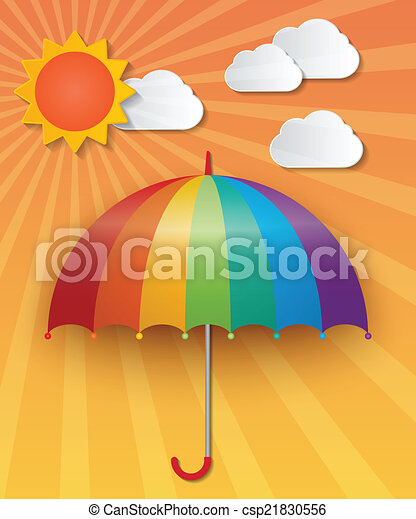 soleggiato, cielo, fondo - csp21830556