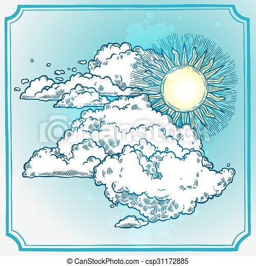 soleggiato, cornice, cielo - csp31172885