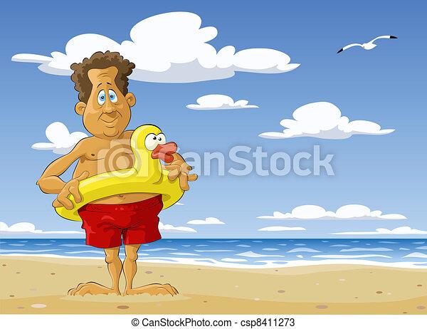 soleggiato, spiaggia - csp8411273