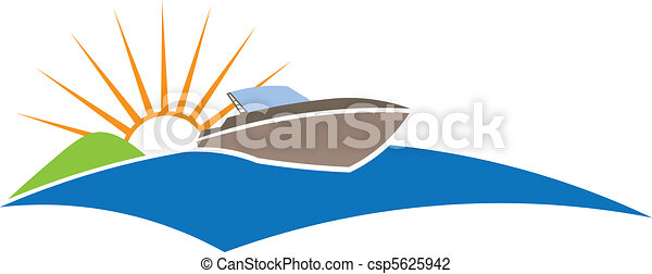 soleil, bateau - csp5625942