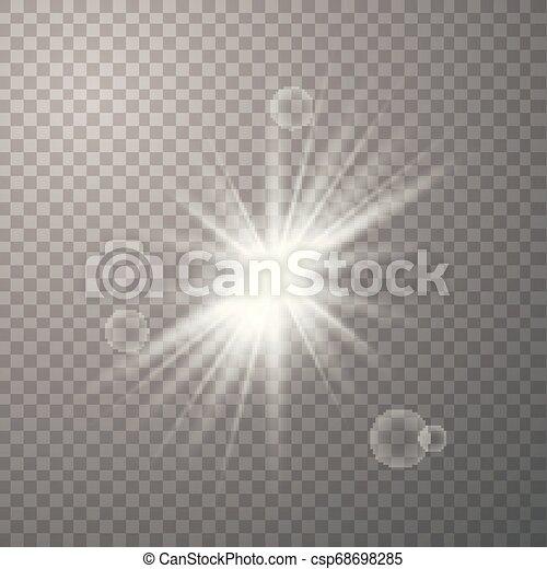 soleil, blanc, vecteur, briller - csp68698285