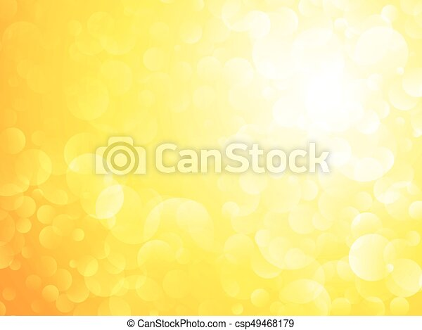 soleil, bokeh, fond jaune, briller - csp49468179