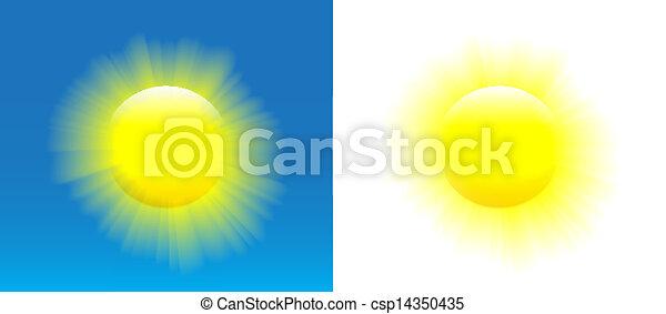 soleil brille - csp14350435