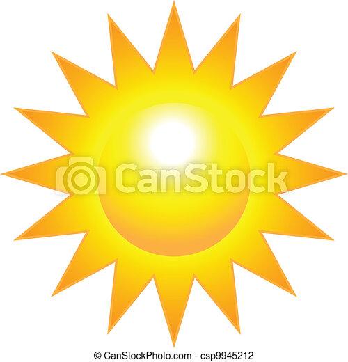soleil, clair, brûlé - csp9945212