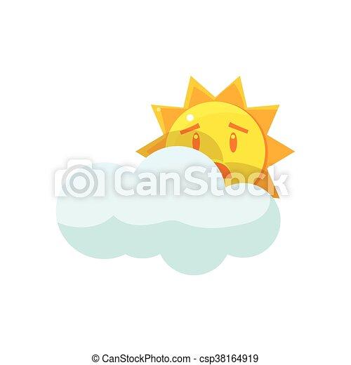 soleil, derrière, nuage, dissimulation - csp38164919